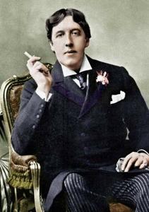 Oscar Wilde having a fag