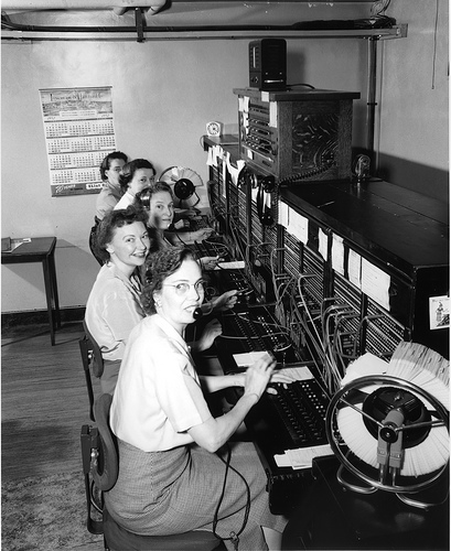Telephone operators, 1952<br />
