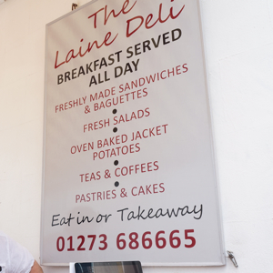 The Laine Deli, 31 Trafalgar Street, Brighton, East Sussex, BN1 4ED