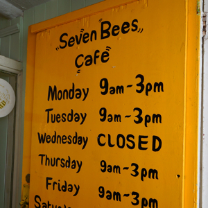 Seven Bees Cafe, 7b Ship Street Gardens, Brighton BN1 1AJ<br />
